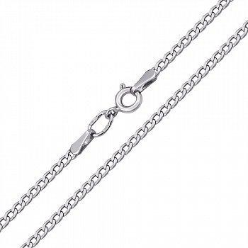 Срібний родований ланцюжок в панцирному плетінні з алмазною гранню, 2,5 мм 000088479