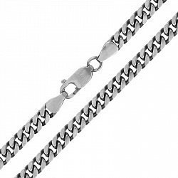 Серебряная цепь с чернением 000026343