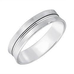 Золотое обручальное кольцо Романтичный подарок в белом цвете