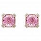 Серьги Ashkenazi с розовым кварцем E-JR-W-rqv2