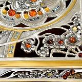 Серебряная шкатулка Янтарная