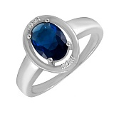 Серебряное кольцо с фианитами Иксоун