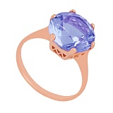 Золотое кольцо Аманда с неодимовым стеклом