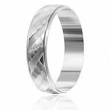Серебряное кольцо Гарселла с перекрестной насечкой