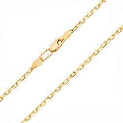 Цепочка из желтого золота в якорном плетении с алмазной гранью 000131585