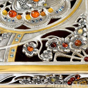 Серебряная шкатулка Янтарная 1689