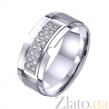 Золотое обручальное кольцо Жар любви TRF--422592
