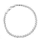 Серебряный браслет Бремен с родированием, 21 см