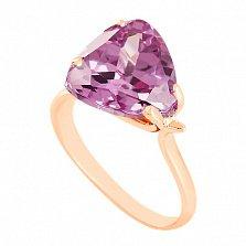 Золотое кольцо с аметистом Сандра