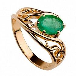 Золотое кольцо с изумрудом Мелитта