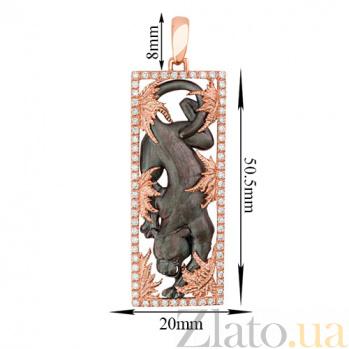 Подвеска Пантера из красного золота с фианитами VLT--А305-5