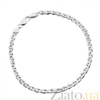 Серебряный браслет Бремен с родированием, 21 см 000027470