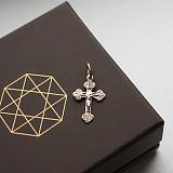 Золотой крестик комбинированного цвета Добрый дух