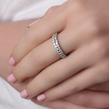Серебряное кольцо Пиренея с цирконами