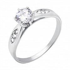 Серебряное кольцо Галлео с белым цирконием