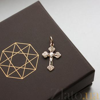 Золотой крестик комбинированного цвета Добрый дух 000032380