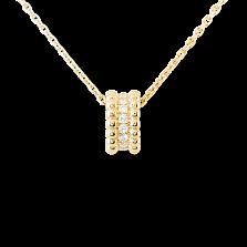 Кулон в желтом золоте с бриллиантами Perlée