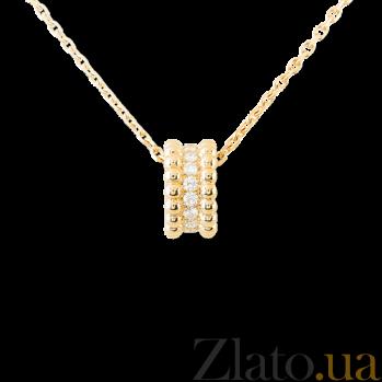 Кулон в желтом золоте с бриллиантами Perlée P-VCA-Perlée-E-diam