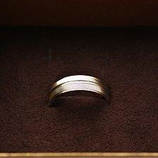 Серебряное обручальное кольцо Параллели