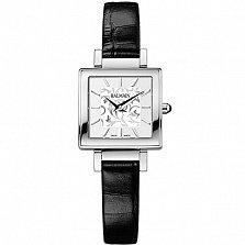 Часы Balmain на черном кожаном ремешке коллекции Miss Balmain SQ