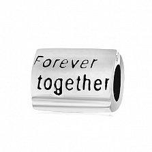 Серебряный шарм Forever together