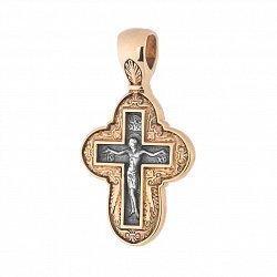 Серебряный крестик с позолотой и чернением Истина 000034511
