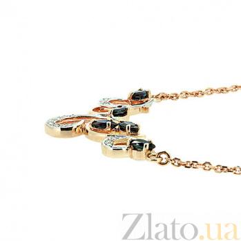 Колье из красного золота с сапфирами и бриллиантами Виоллета ZMX--NS-6290_K