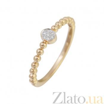 Кольцо из красного золота с бриллиантами Возлюбленная 000032293