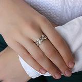 Серебряное кольцо с золотыми вставками Натали