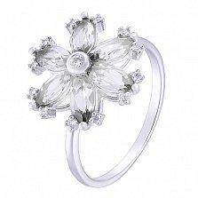 Кольцо в белом золоте Мирра с фианитами