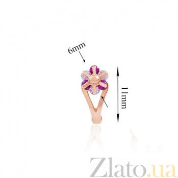 Золотые серьги Фабия с фианитами EDM--С0334КР