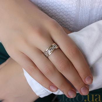 Серебряное кольцо с золотыми вставками Натали BGS--351к