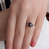 Золотое кольцо с бриллиантами и жемчугом Фелиция