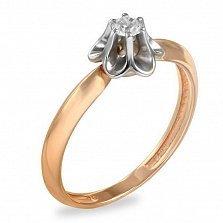 Кольцо в красном золоте Элла с фианитом