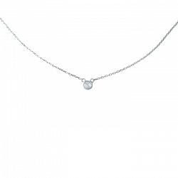 Серебряное колье Эрла с кристаллом циркония