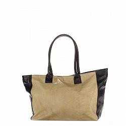 Кожаная сумка на каждый день Genuine Leather 8030 кофейно-коричневого цвета на молнии