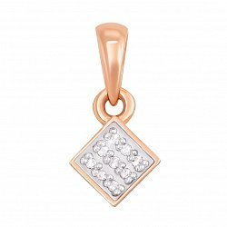 Кулон из красного золота с бриллиантами 000123684