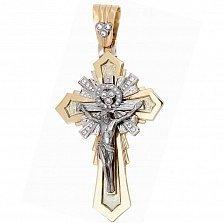 Золотой крест с бриллиантами Благодать