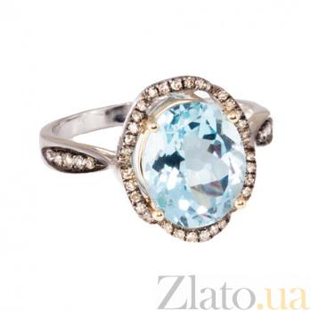 Золотое кольцо с топазом и бриллиантами Филисити 1К034-0805