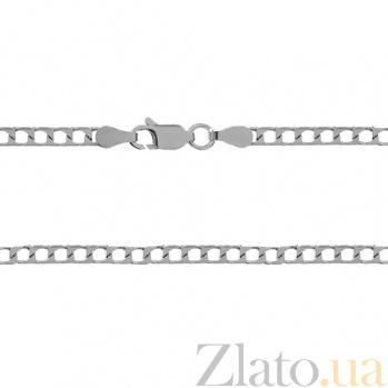 Серебряная цепь Джаз с родированием, 60 см 000027428