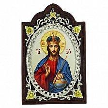 Серебряная икона с фианитами Господь Вседержитель