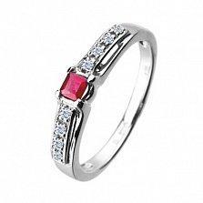 Золотое кольцо с рубином и бриллиантами Амазонка