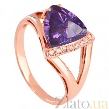 Золотое кольцо с александритом и фианитами Джиованна VLN--112-1363-9