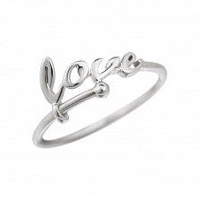 Кольцо из белого золота Love