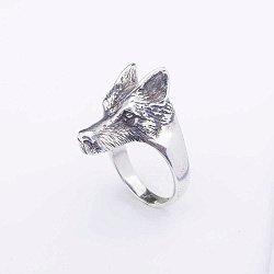 Серебряное кольцо Волк 000062013