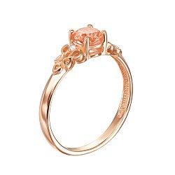 Кольцо из красного золота с шампаньевым и белыми кристаллами Swarovski 000133922