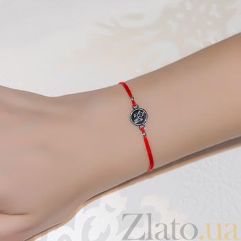 Шёлковый браслет Ангелочек с серебряной вставкой Ангел2