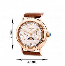Часы наручные из красного золота с лунным календарем 000134572