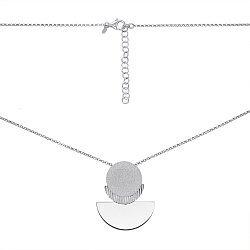 Колье из серебра с декоративными элементами 000146719