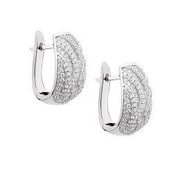 Серебряные серьги Франческа с кристаллами циркония